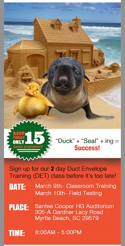 Unique SCDET Training Available — Limited Seating!